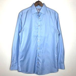 Charles Tyrwhitt Blue Button Up Slim Fit Shirt M